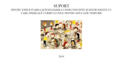 Suport pentru explicitare și înțelegere Curriculum educație timpurie 2019