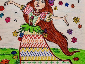 Rochița Verii, decorare și colorare