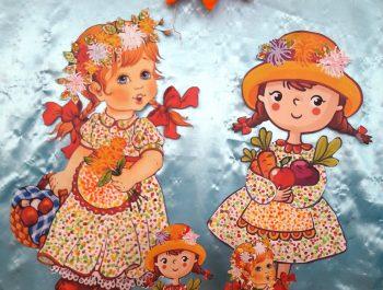 Fetițele Toamnei-pictura cu betisorul.